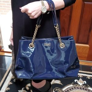 Kate Spade Purse Patent Leather Navy Blue